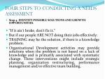 four steps to conducting a needs assessment21