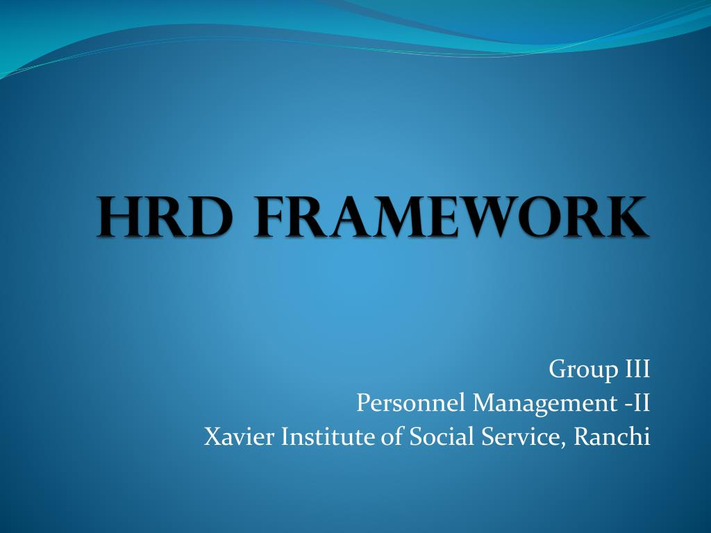 hrd framework