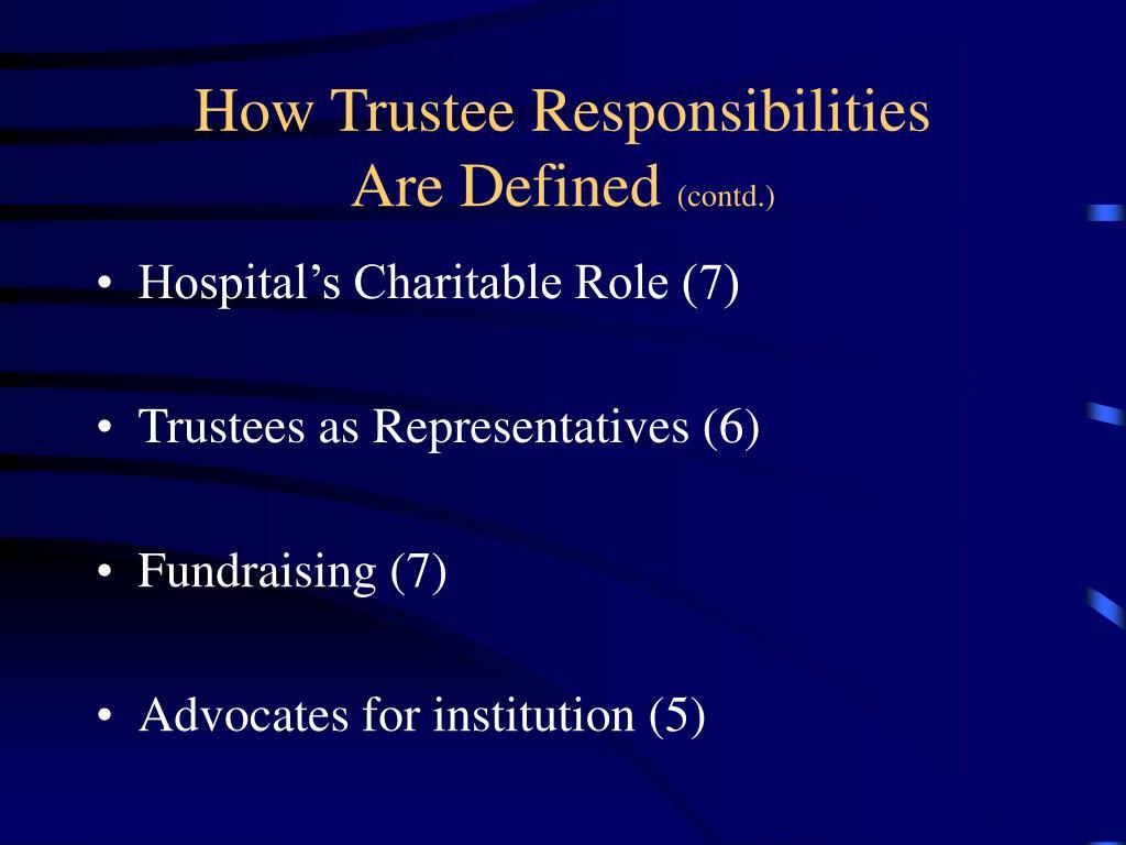How Trustee Responsibilities