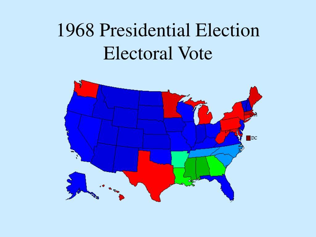 1968 Presidential Election Electoral Vote