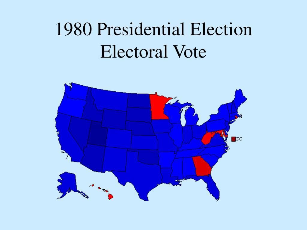 1980 Presidential Election Electoral Vote