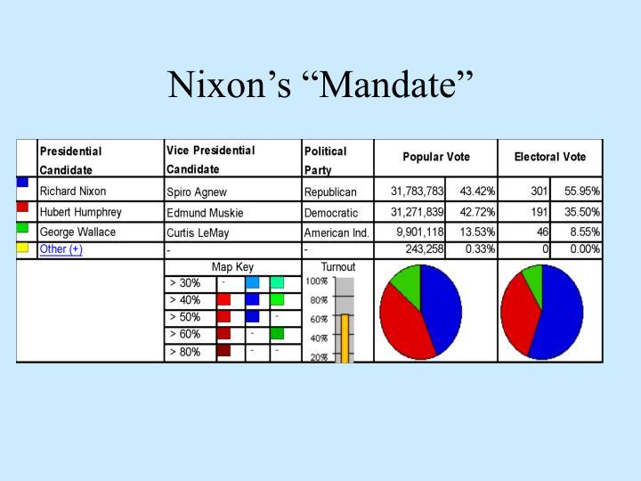 Nixon s mandate