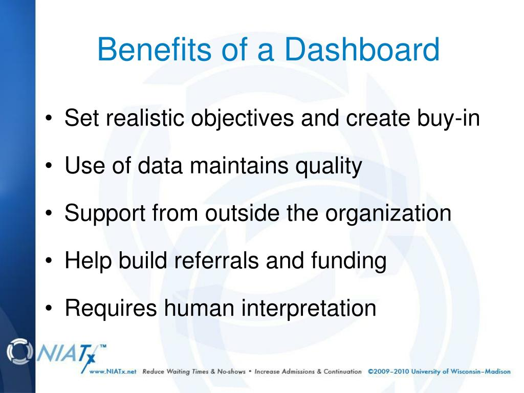 Benefits of a Dashboard