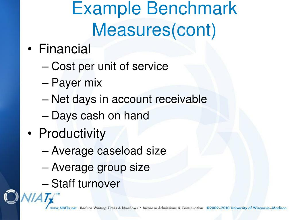 Example Benchmark Measures(cont)