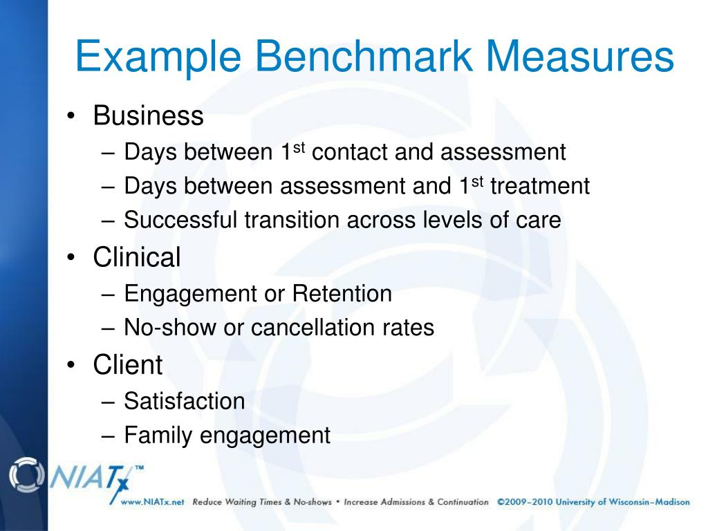 Example Benchmark Measures