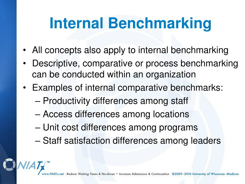 All concepts also apply to internal benchmarking