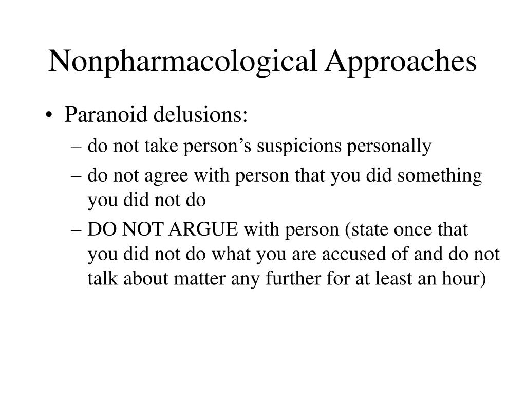 Nonpharmacological Approaches