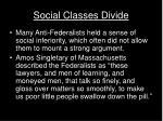 social classes divide