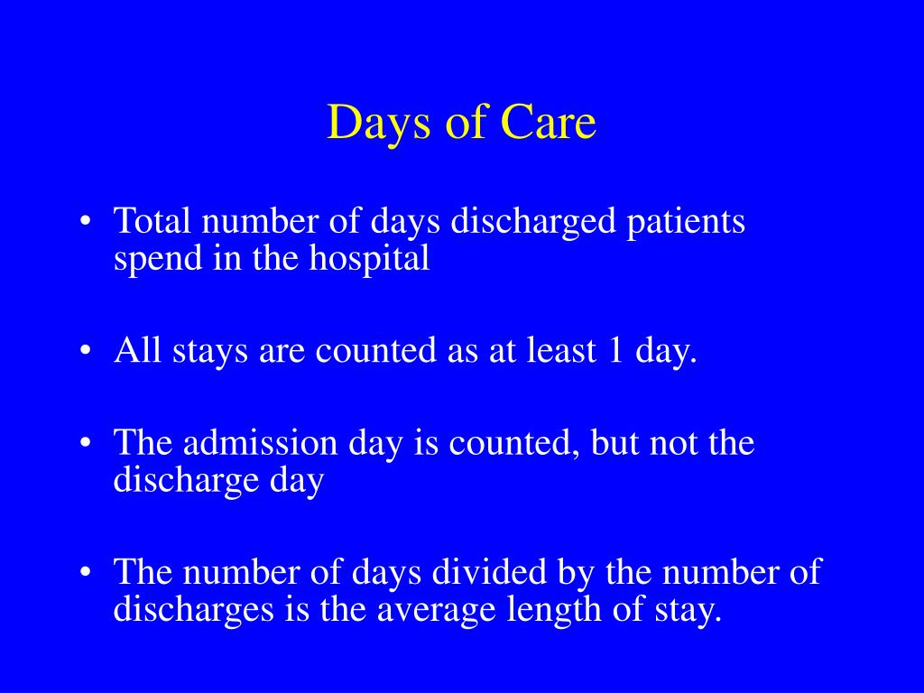 Days of Care