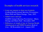 examples of health services research
