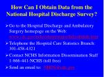 how can i obtain data from the national hospital discharge survey