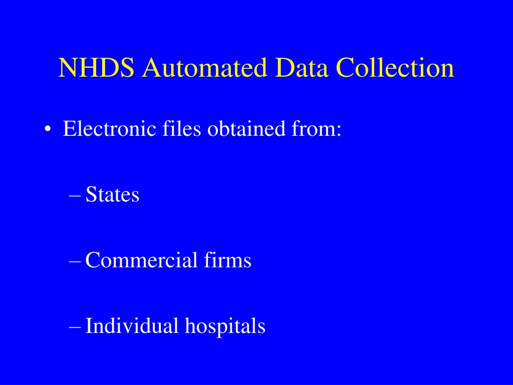 NHDS Automated Data Collection