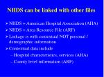 nhds can be linked with other files