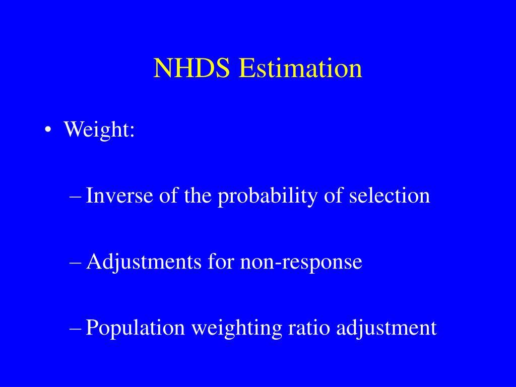 NHDS Estimation