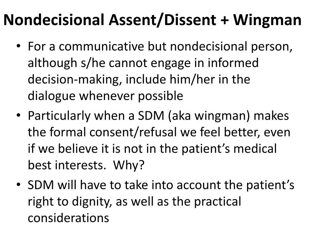 Nondecisional Assent/Dissent + Wingman