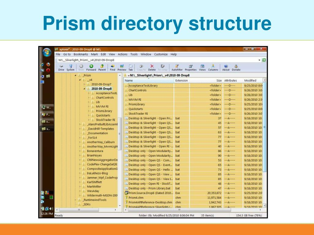 Prism directory structure