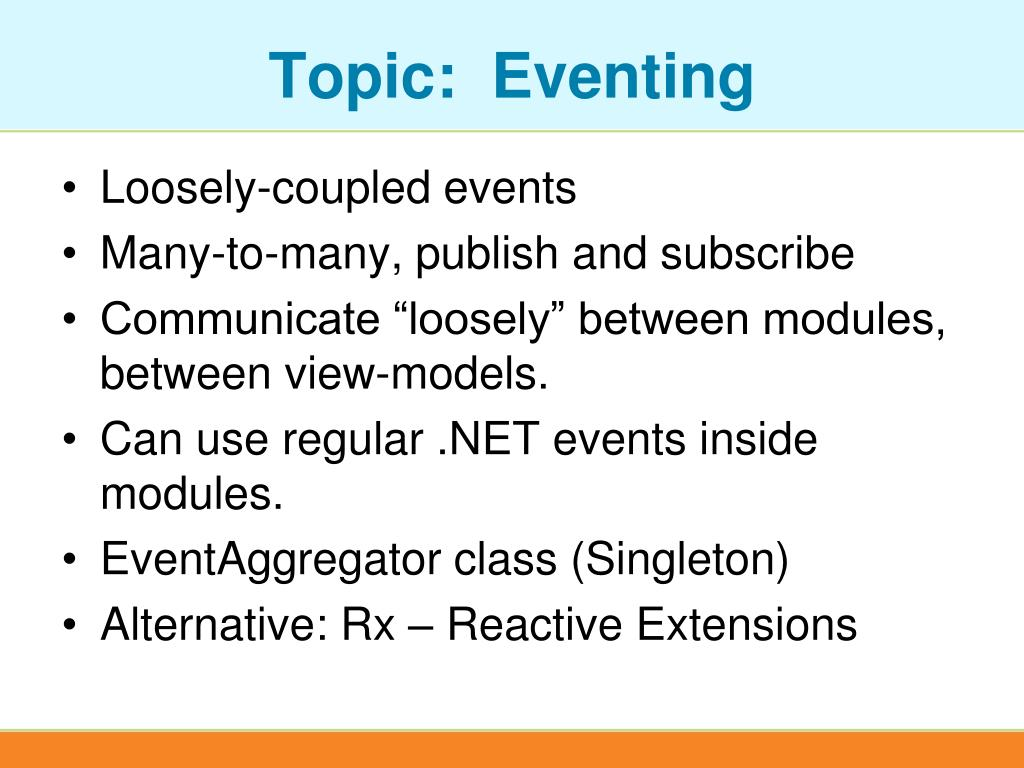 Topic:  Eventing
