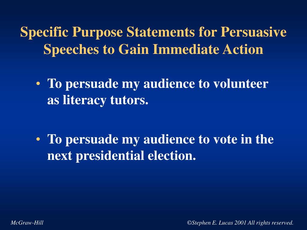 persuasive speech election