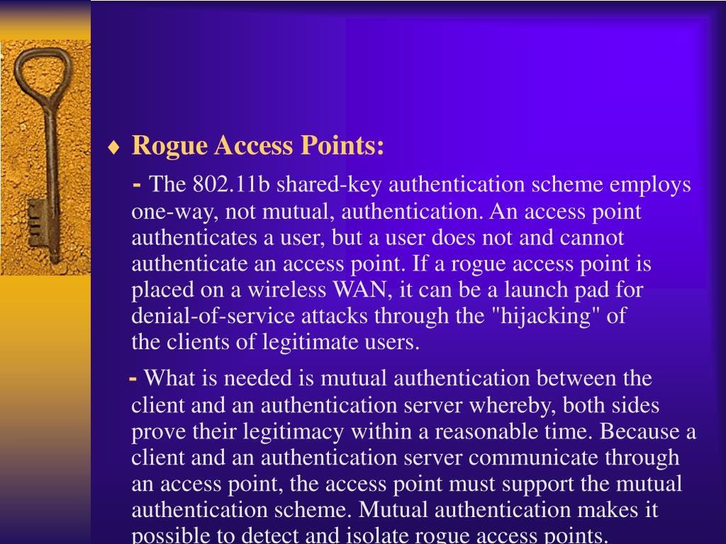 Rogue Access Points:
