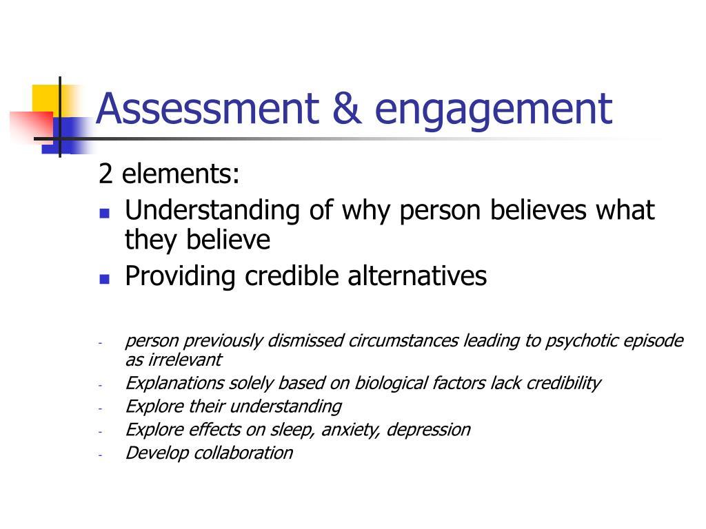 Assessment & engagement