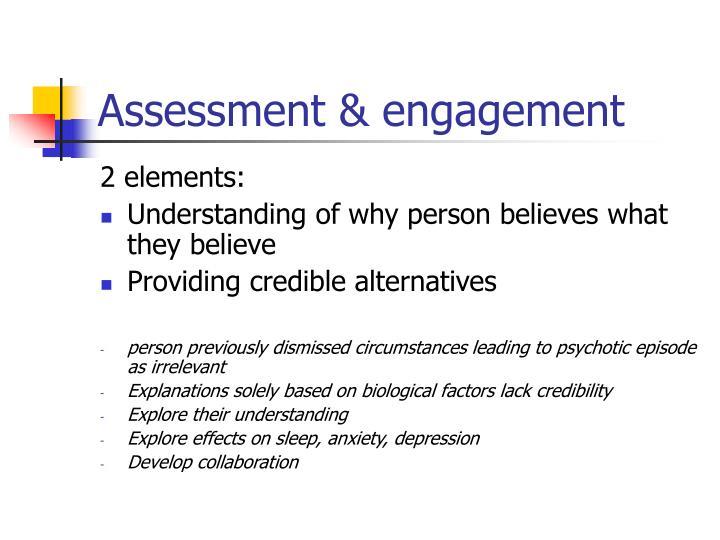 Assessment engagement