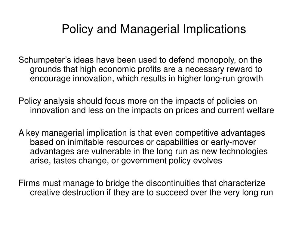 Policy and Managerial Implications
