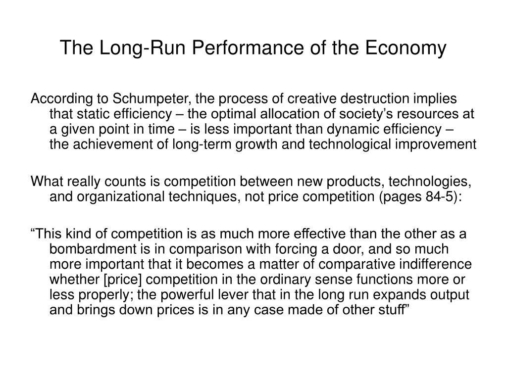 The Long-Run Performance of the Economy