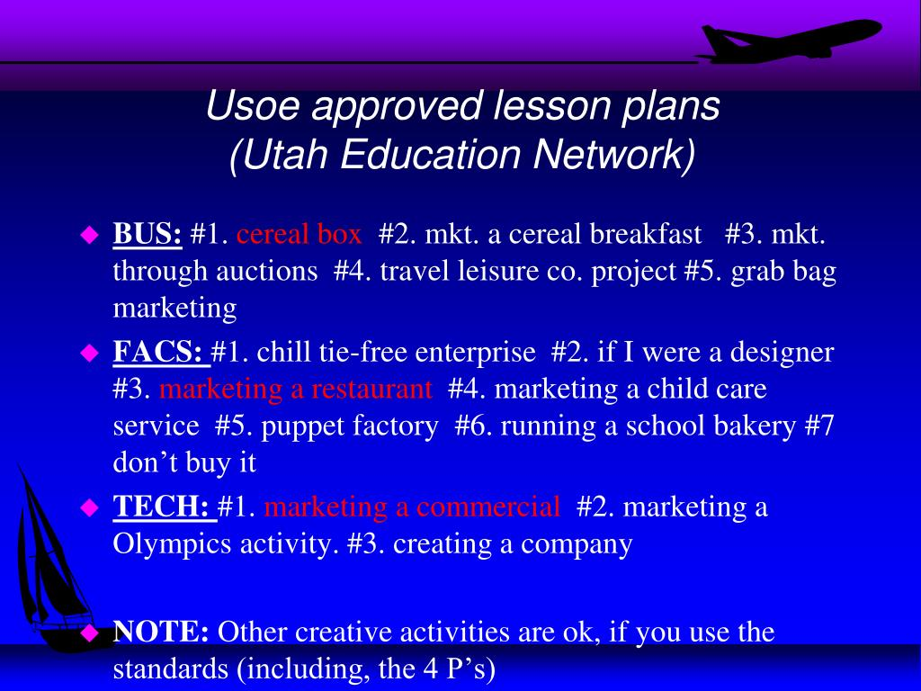 Usoe approved lesson plans