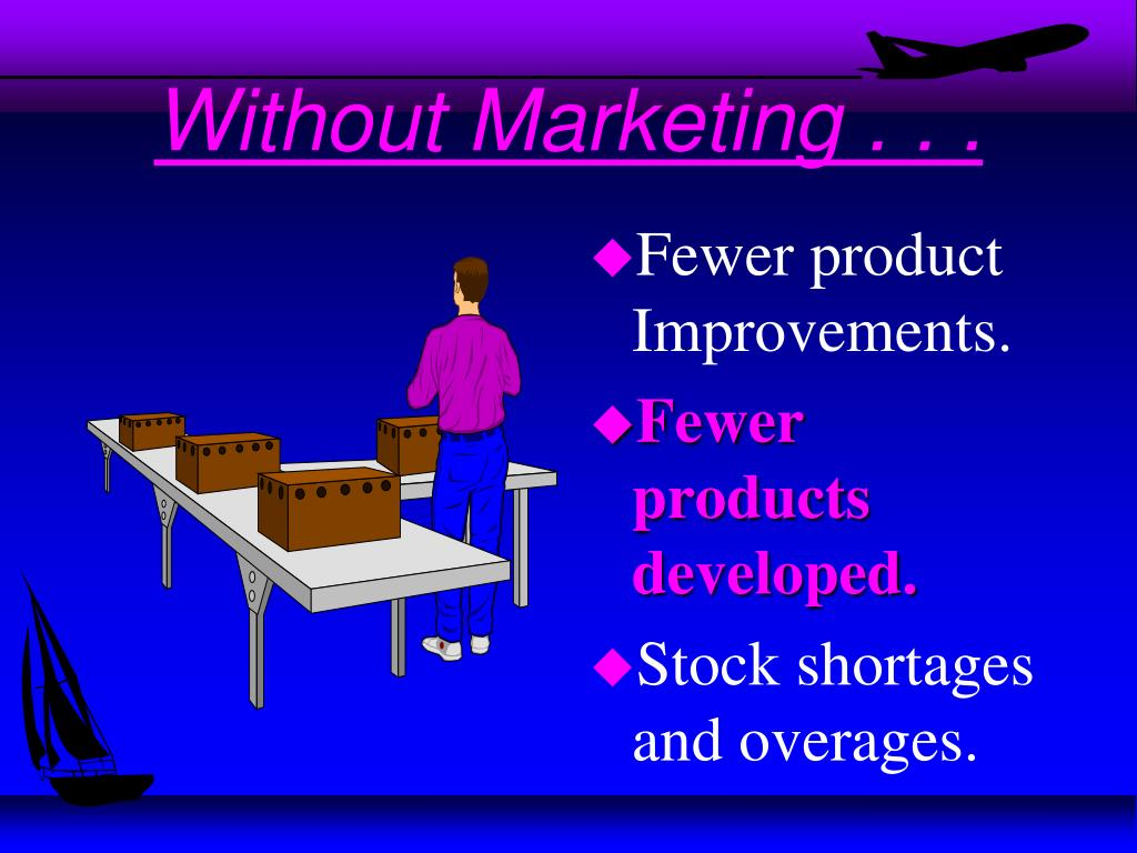 Without Marketing . . .