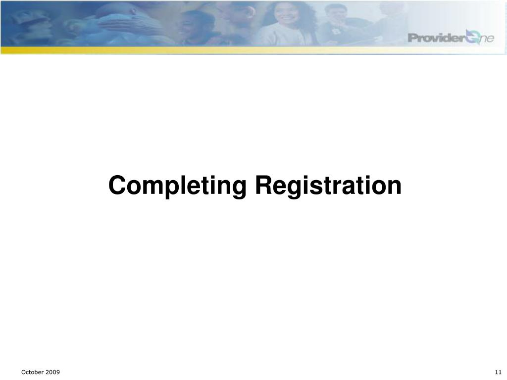 Completing Registration
