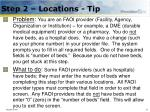 step 2 locations tip