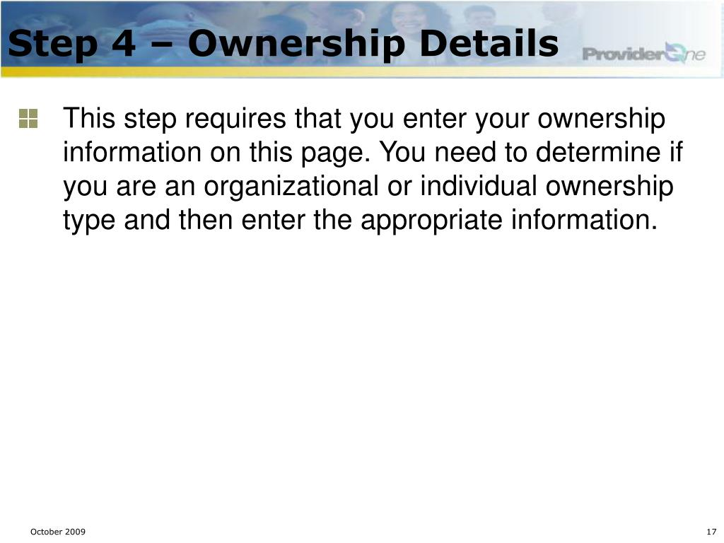 Step 4 – Ownership Details