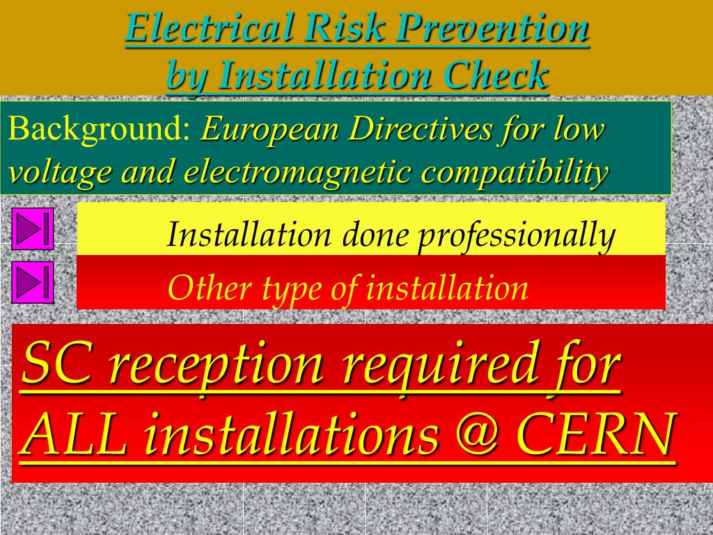 Electrical Risk Prevention