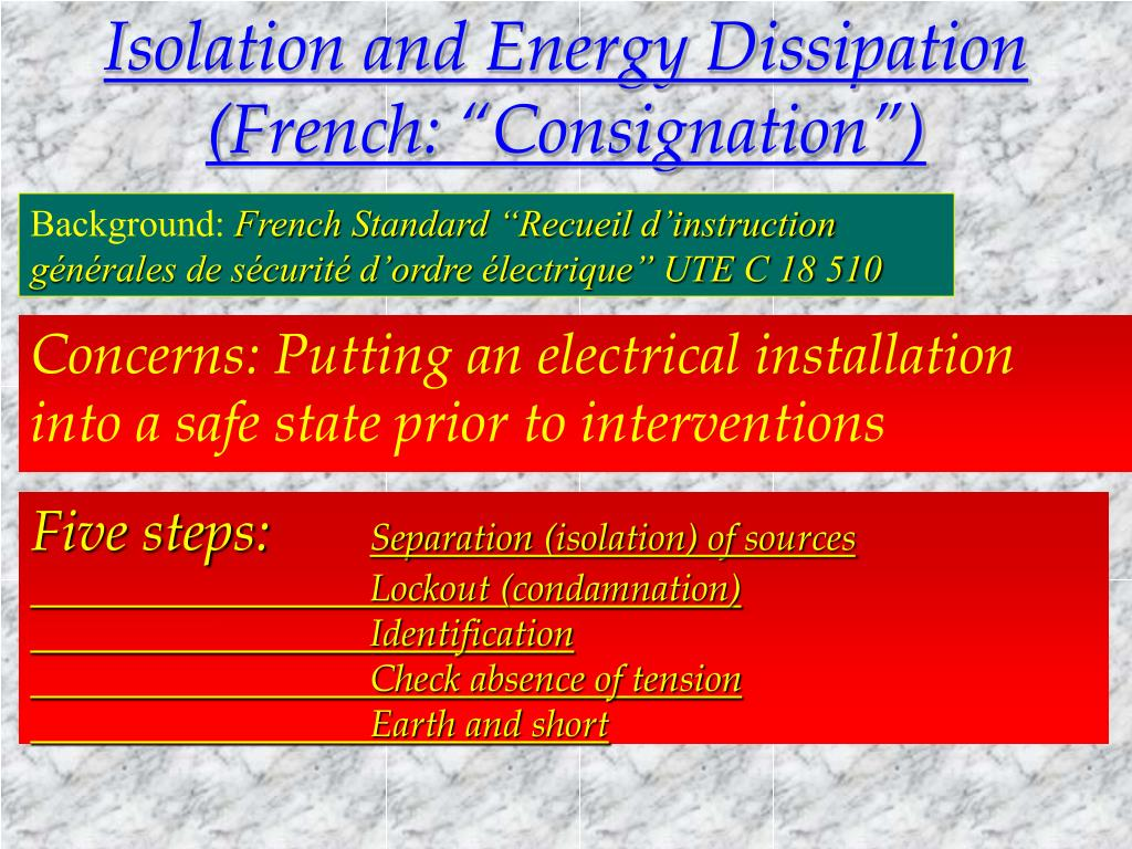 Isolation and Energy Dissipation