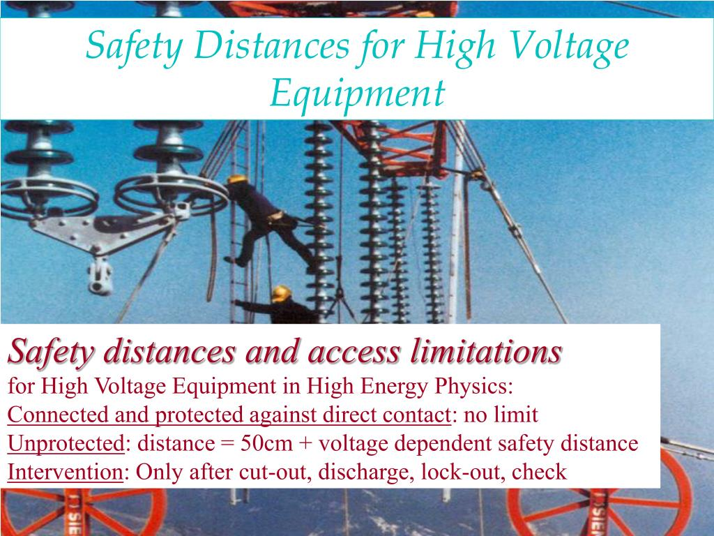 Safety Distances for High Voltage Equipment