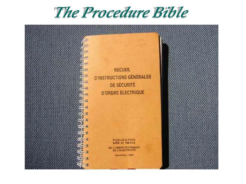 The Procedure Bible