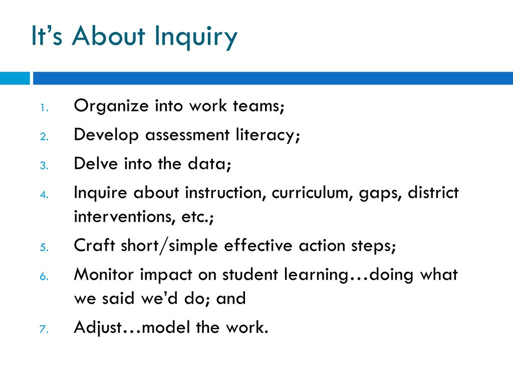 It's About Inquiry