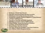 think tank members