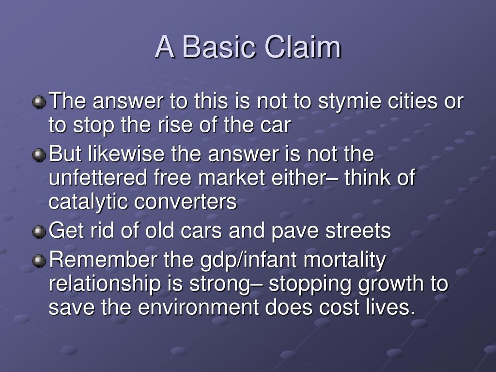 A Basic Claim