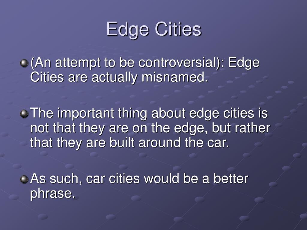 Edge Cities