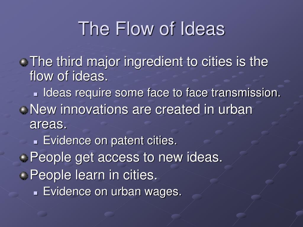 The Flow of Ideas
