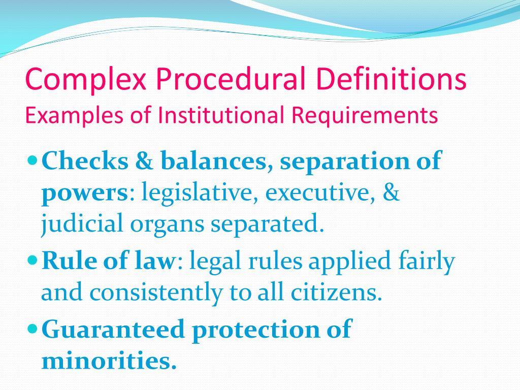 Complex Procedural Definitions