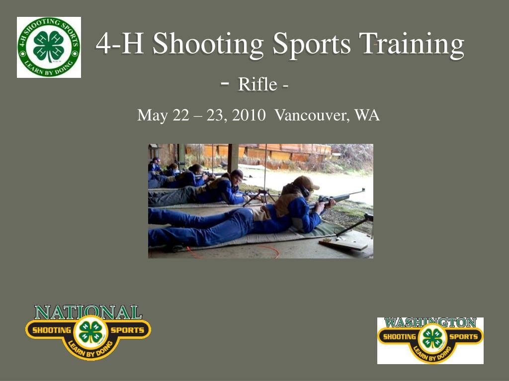 4 h shooting sports training rifle l.