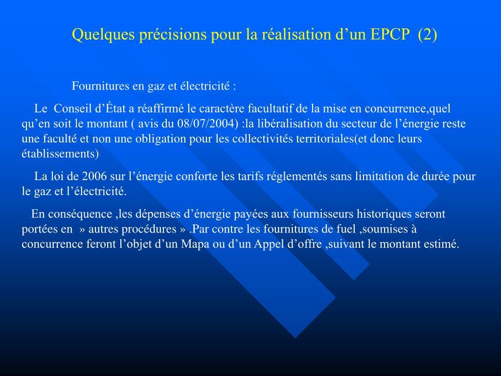 Quelques précisions pour la réalisation d'un EPCP  (2)
