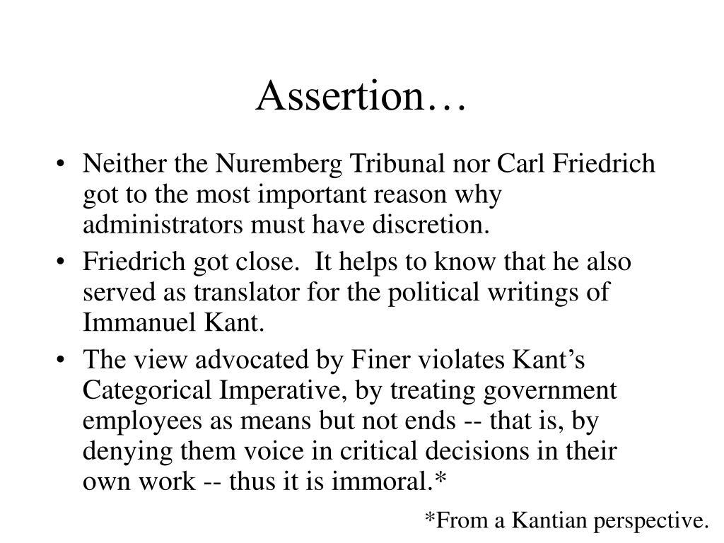 Assertion…