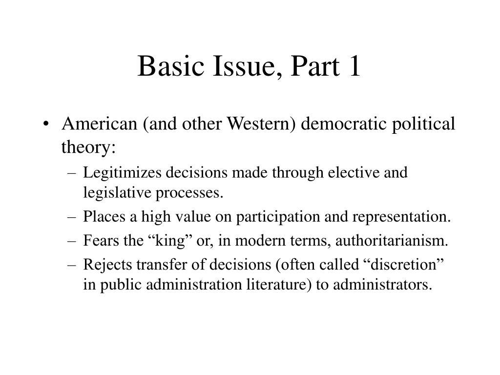 Basic Issue, Part 1