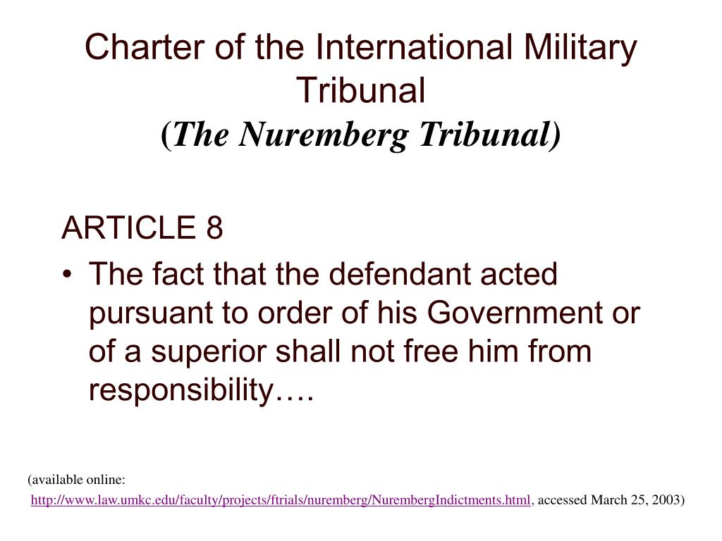 Charter of the International Military Tribunal