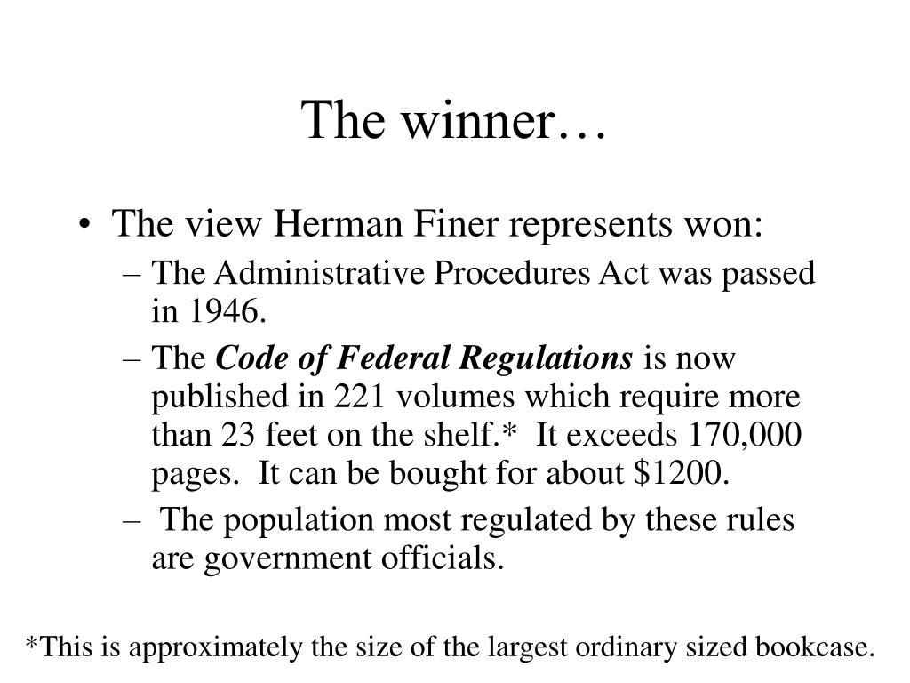 The winner…