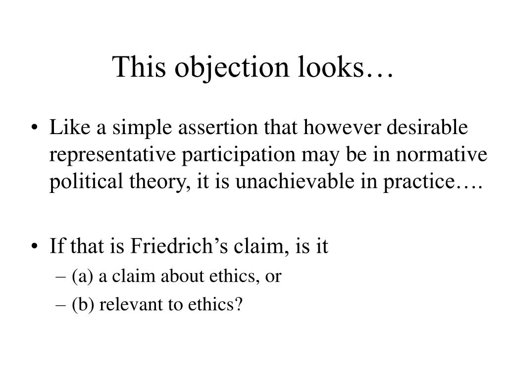 This objection looks…