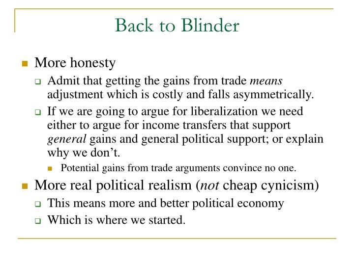 Back to Blinder